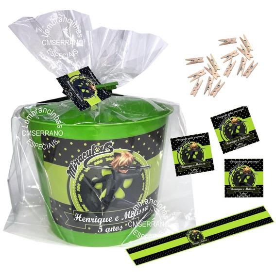 25 Balde Pipoca 1,75 L Personalizado Embalagem Tag Rotulo