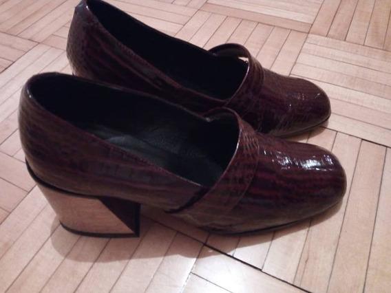 Zapatos Croco Charol Paruolo