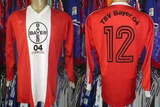 Bayer Leverkusen 1978 Camisa Mangas Longas Gg # 12.