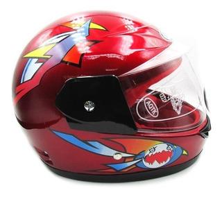 Casco Proteccion Chicos Niños Moto Formula 1 F1 Visera