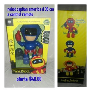 Robot Capitan America D 35 Cm A Control Remoto