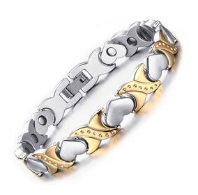 Pulseira Magnética Love Feminina Terapia Bracelete Imãs