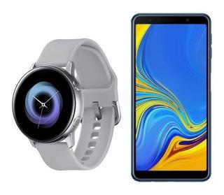 Samsung A7 2018 Azul Bundle + Galaxy Active Watch Silver Att