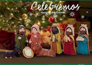 Pesebre, Navidad, Nacimiento, Pintado A Mano