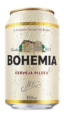 Kit Com 12 Unid Cerveja Bohemia 350ml Lata