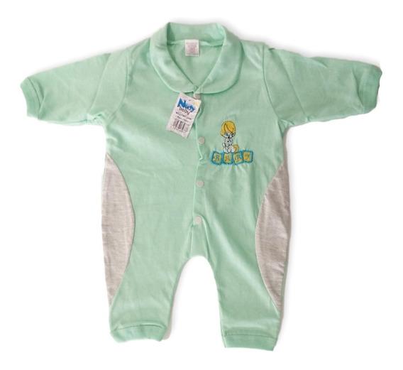 Macacão Verde Bebê Recém Nascido Masculino Bordado Oferta