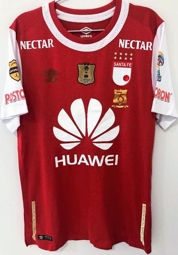 Camisa Independiente Santa Fé Usada Jogo Liga Colômbia 2016
