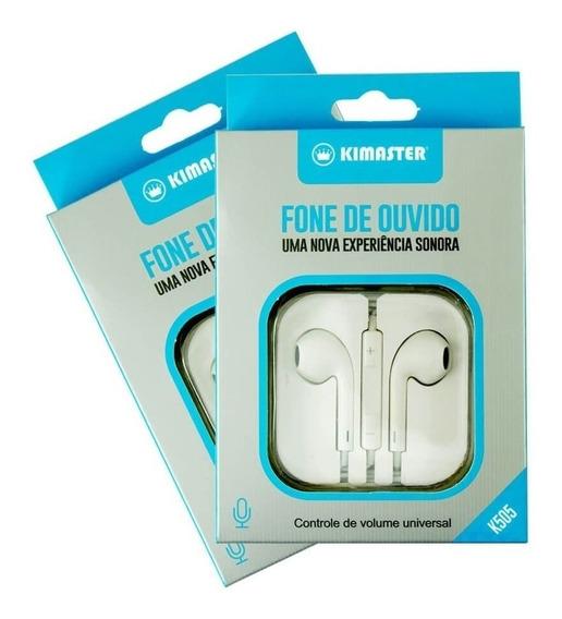 Fone De Ouvido P2 Microfone Fio Qualidade Som Kimaster K505