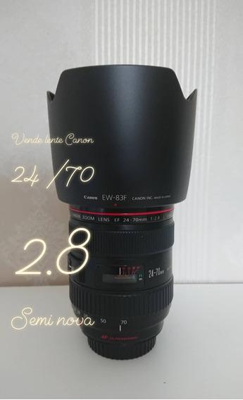 Lente Canon 2.8 24 -70