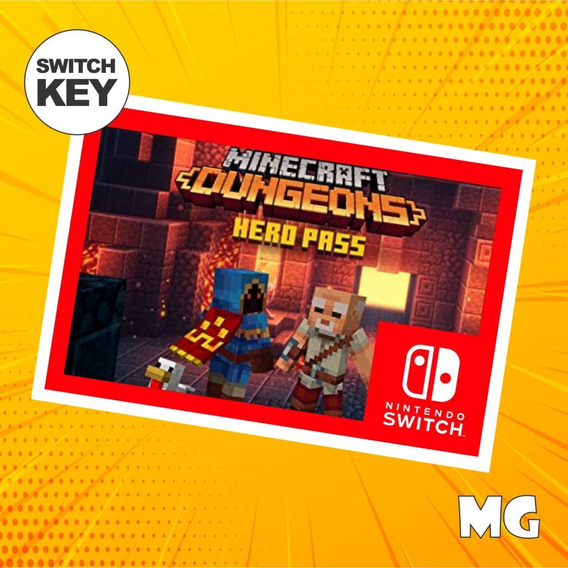 Passe Do Herói Do Minecraft Dungeons - Switch Digital