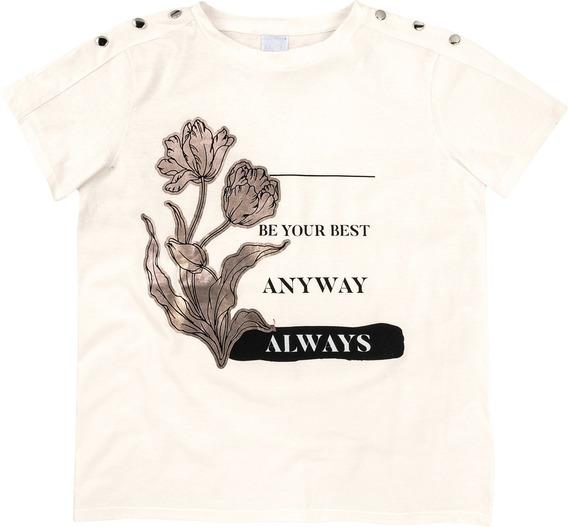 Camiseta Enfim Off White Feminina 64091