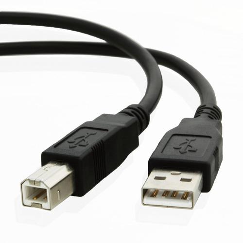 Imagen 1 de 5 de Cable Usb A/b 3 Mts Noga - 2.0 Negro Impresora (usb 2.0 3m)