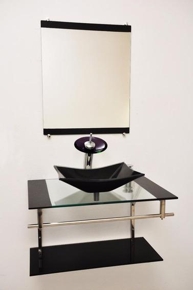 Gabinete De Vidro Com Espelho 60x45