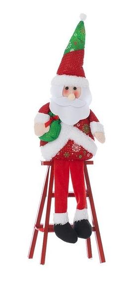 Muñeco Papa Noel Con Escalera Navideño
