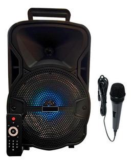 Parlante Karaoke Bluetooth Portátil Luces Colores