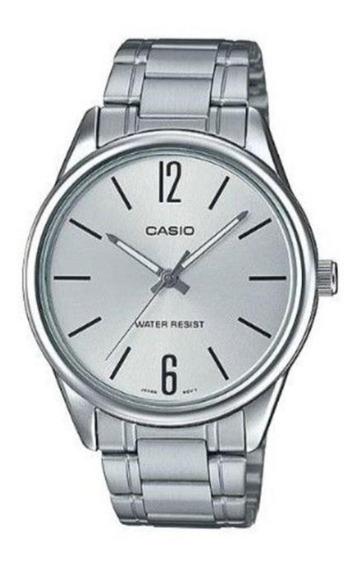 Relógio Feminino Casio Prata Fundo Prata Ltp-v005d-7budf
