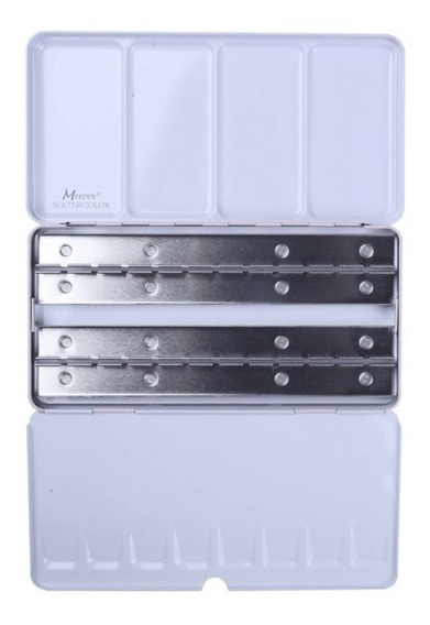 Caja Para Acuarelas Ordenador De 48 Half Pans Meeden