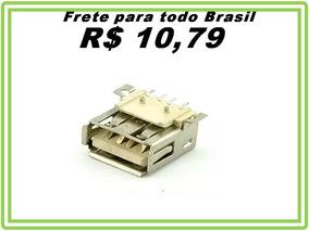 Conector Usb Femea 4 Pinos Decodificador Angulo Reto 8 Pçs
