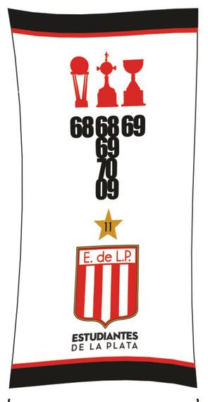 Toallón Playero Estudiantes Diseño Trofeo 100% Algodón