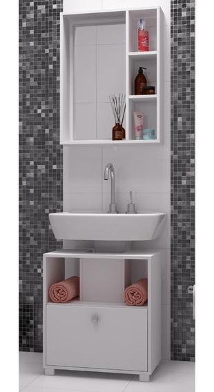 Gabinete P/banheiro Brv C/prateleira E Porta Basculantebbn02