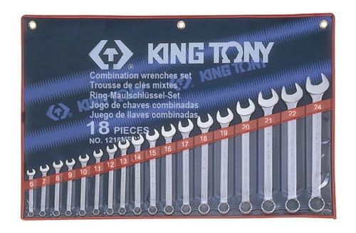 Jogo Combinada C/ 18 Chaves 6-24  1218mr01 - King Tony