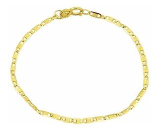 Pulseira De Ouro 18k Piastrine Feminina 1,2mm - Viagold F45