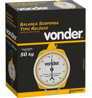 Balança Suspensa Tipo Relógio 50 Kg Com Gancho - Vonder + Nf