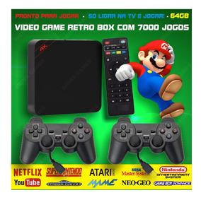 Retro Box - Video Game Multijogos C/ 7000 Jogos Antigos 64gb