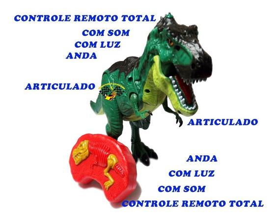 Dinossauro Rex Controle Remoto Som Luz