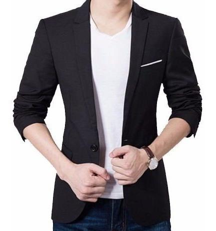 Blazer Slim Fit Luxo Casual Masculino