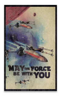 Cuadro De Star Wars May The Force Be With You Star Wars