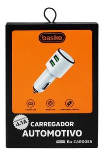 Carregador Veicular Com 2 Portas Usb - Basike Ba-car 0055