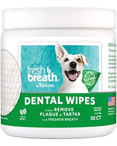 Imagen 1 de 6 de Tropiclean Toallitas Dentales Para Mascotas