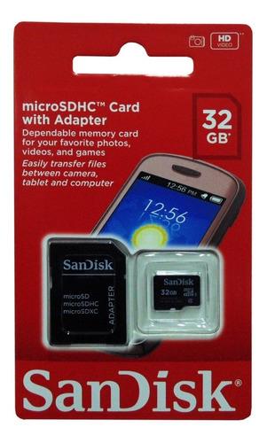 Memoria Micro Sdhc Sandisk 32gb Clase 4 Original Sellado Nue