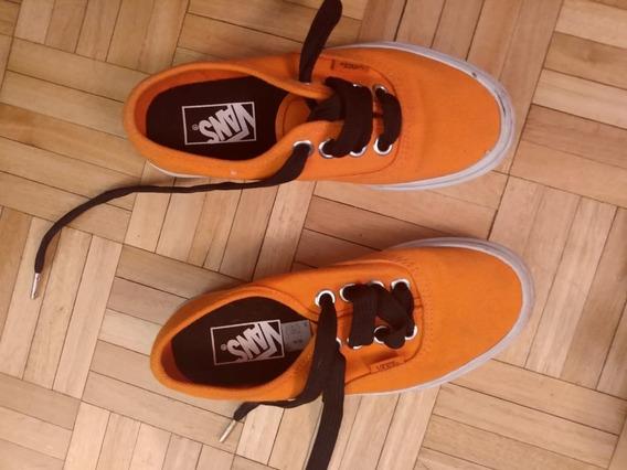 Zapatillas Vans Nenas Talle 35 Naranjas Hermosas
