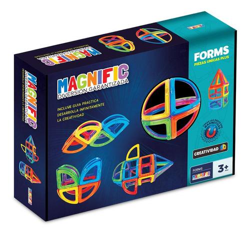 Imagen 1 de 8 de Bloques Para Niños Nuevo Modelo 44 Piezas Magnific Forms