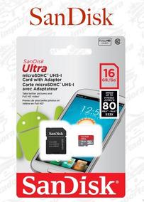 Dois Cartões Micro Sd Sandisk Ultra 16gb Sdhc Lacrado