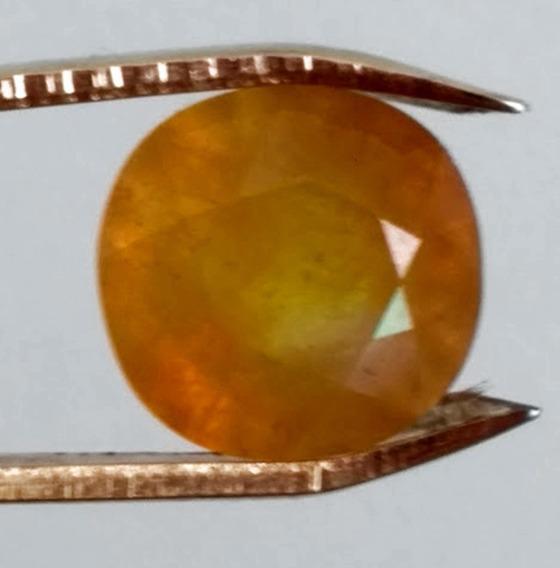 Safira Amarela Natural*12.42 Cts(12.5x12mm))