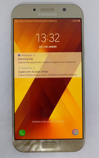 Samsung Glaxy A7 2017 Dourado A720f/ds 32gb Vitrine Burn-in