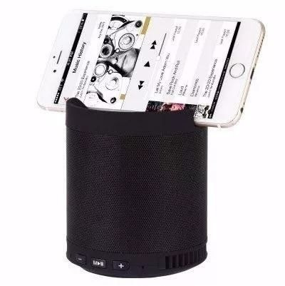 Caixa De Som Bluetooth Usb Fm Sdcard Aux Suporte Celular