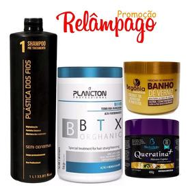 Shampoo Anti Resíduos Btx Plancton Organico Queratina Verniz