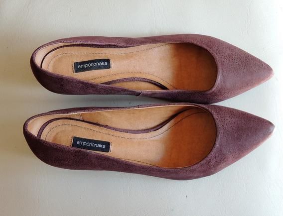 Zapato Violeta Taco Bajo Luxo Brasil