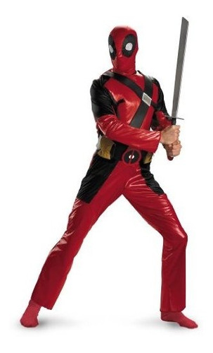 Imagen 1 de 4 de Traje Deadpool Universo Marvel Disfraz De Hombre
