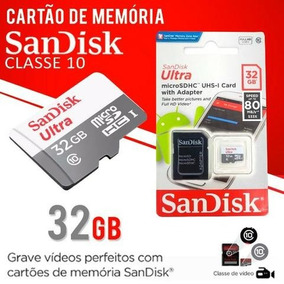 Cartão Micro Sd Ultra 32gb Sandisk 80mb/s Classe 10