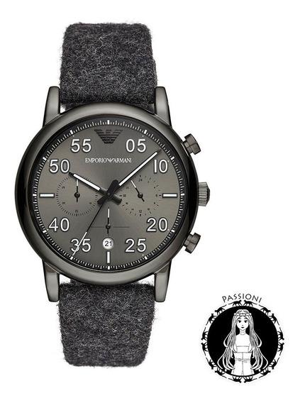 Relógio Empório Armani Aviator Ar11154/1pn C/nf E Garantia O