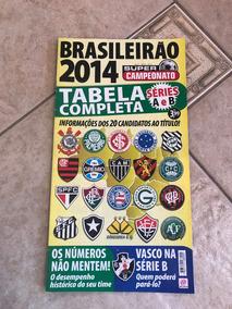 Revista Super Campeonato Brasileirão 2014 Série A E B Tabela