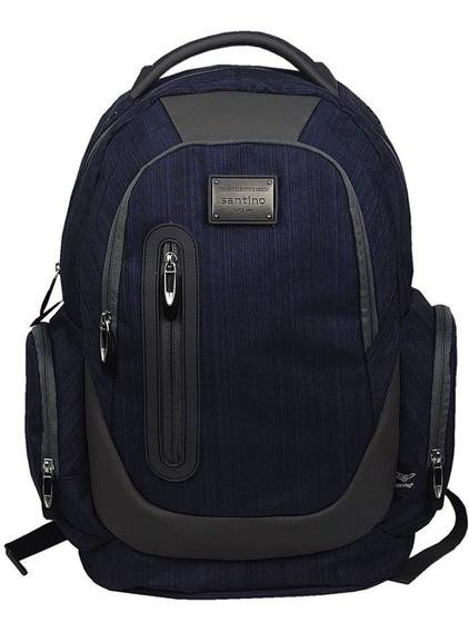 Muchilasl Masculina Impermeavel Reforçada Grande Azul Laptop