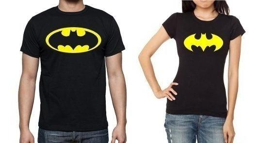 2 Playeras A Juego Batman Y Batichica P/ Pareja