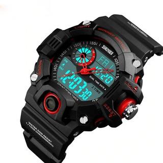 Reloj Hombre Skmei Análogo Digital Cronometro Led Dual