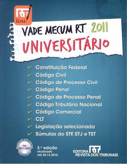 Vade Mecum Universitario Rt 2011 - 3ª Ed